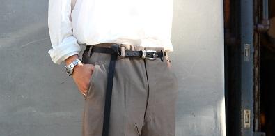 Silver buckle belt-goat-